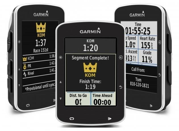 Strava Live segments can be presented on your handlebars with the Garmin Edge 520