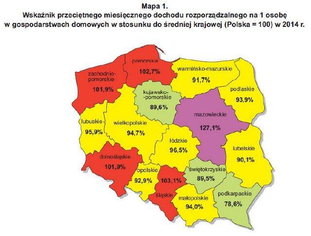 mapa dochodu
