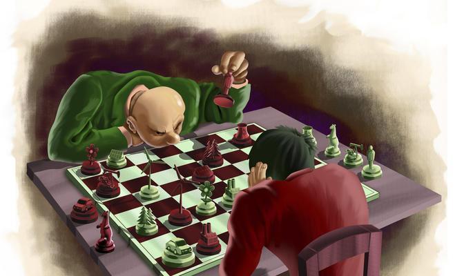 partia szachów - nietypowe figury