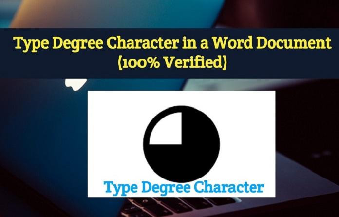 Type Degree Character