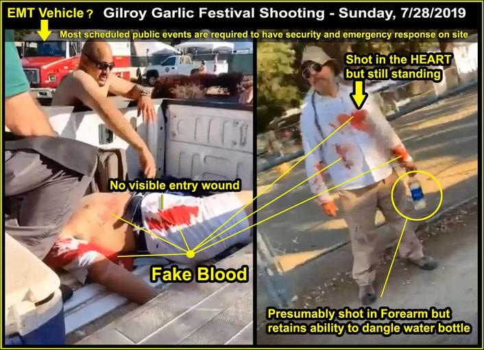 Gilroy Shooting Fake Trauma Scene in Pickup Truck.jpg