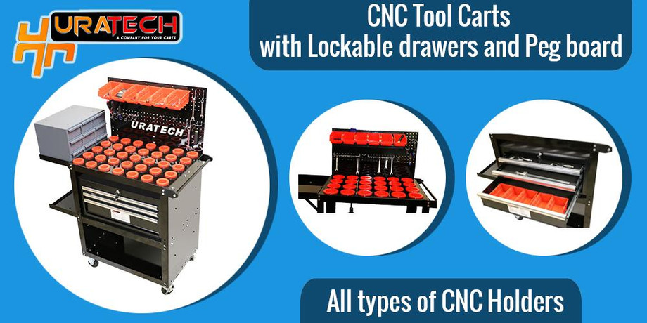 CNC Tool cart with Lockable drawers and Peg board.jpg