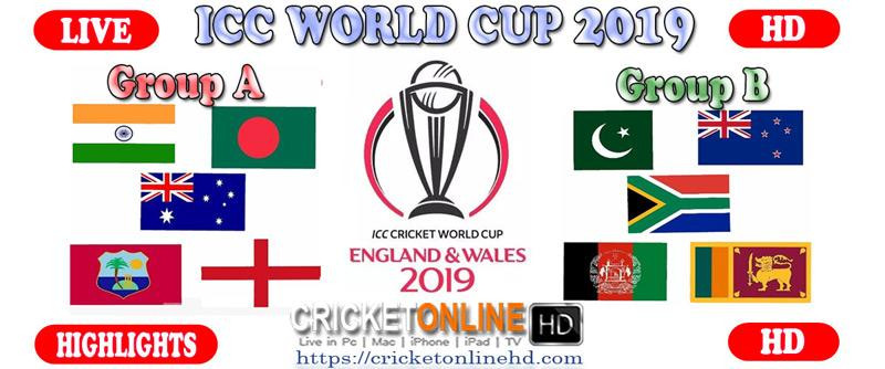 ICC Cricket World Cup 2019 streaming HD