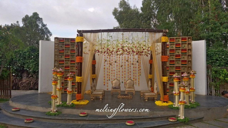 Garden Wedding Mandap Decorations