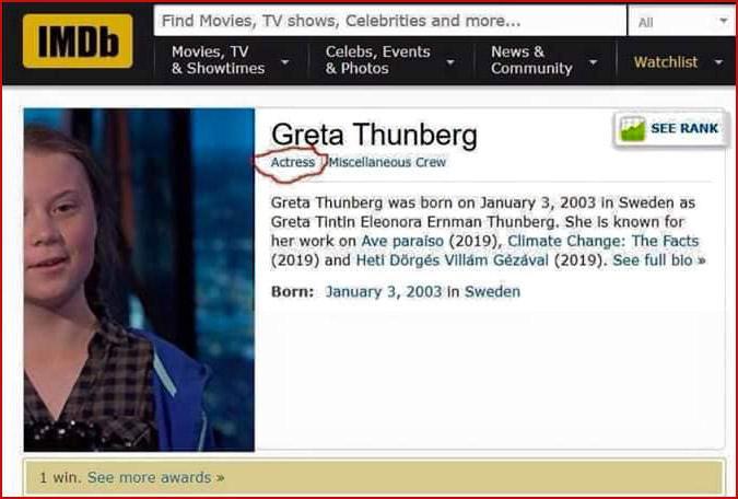 IMDb Greta Thunberg the Actress.jpg