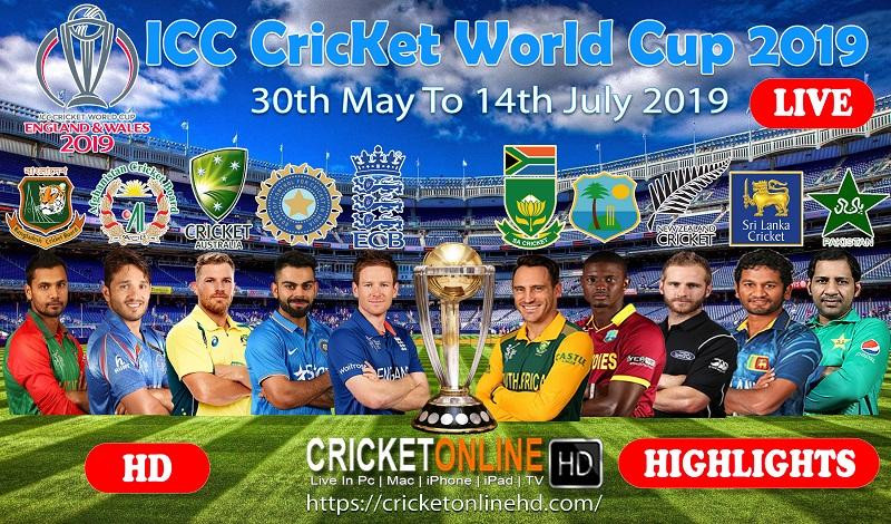 Online Live Cricket World Cup Streaming 2019