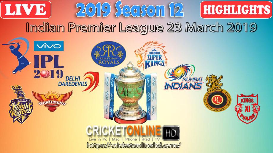 IPL 2019 Live Cricket Streaming